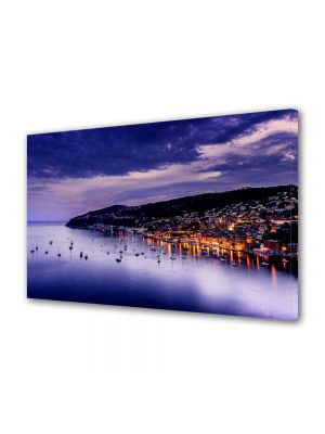 Tablou Canvas Luminos in intuneric VarioView LED Urban Orase Coasta de Azur Franta
