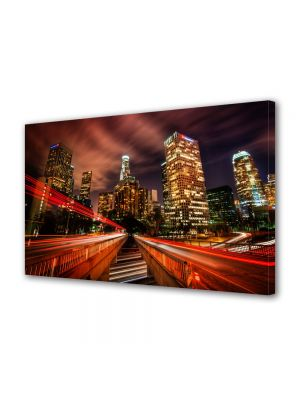 Tablou Canvas Luminos in intuneric VarioView LED Urban Orase Los Angeles SUA