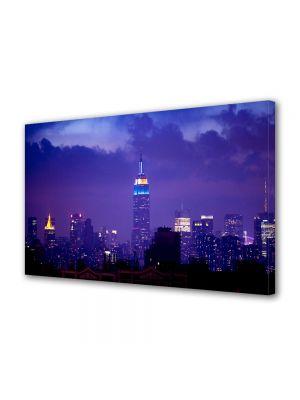 Tablou VarioView MoonLight Fosforescent Luminos in Urban Orase Cladirea Empire State noaptea