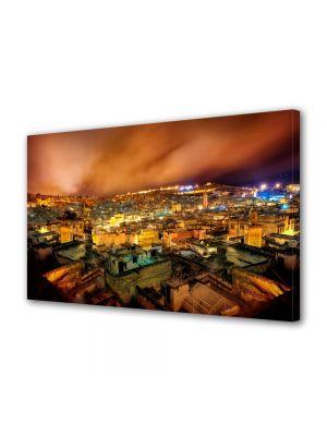Tablou VarioView MoonLight Fosforescent Luminos in Urban Orase Noaptea peste oras