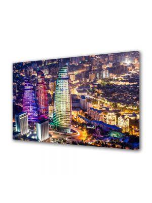 Tablou VarioView MoonLight Fosforescent Luminos in Urban Orase Azerbaijan noaptea