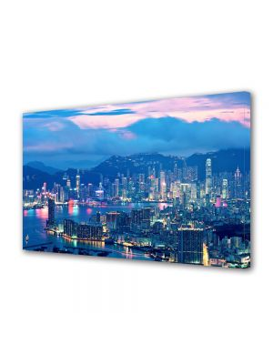 Tablou VarioView MoonLight Fosforescent Luminos in Urban Orase Lumini in Hong Kong