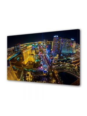 Tablou VarioView MoonLight Fosforescent Luminos in Urban Orase Las Vegas SUA