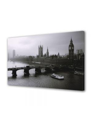 Tablou Canvas Londra Alb Negru