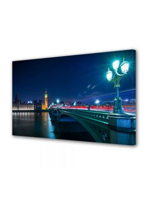 Tablou Canvas Luminos in intuneric VarioView LED Urban Orase Pod in Londra