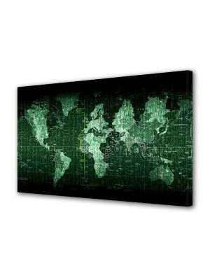 Tablou Canvas Harta lumii matrice