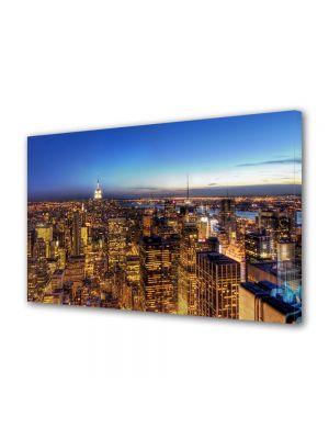 Tablou VarioView MoonLight Fosforescent Luminos in Urban Orase New York la apus