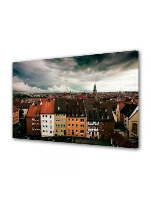 Tablou Canvas Luminos in intuneric VarioView LED Urban Orase Nuremberg Germania
