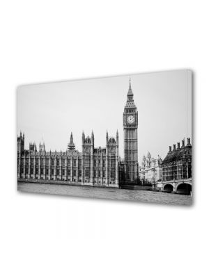 Tablou VarioView MoonLight Fosforescent Luminos in Urban Orase Palatul Westminster Alb Negru Londra