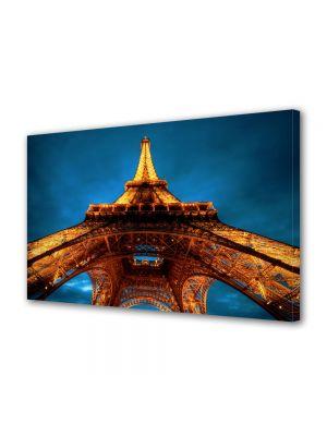 Tablou Canvas Parisul noaptea si Turnul Eiffel