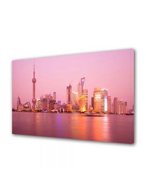 Tablou VarioView MoonLight Fosforescent Luminos in Urban Orase Shanghai in zare