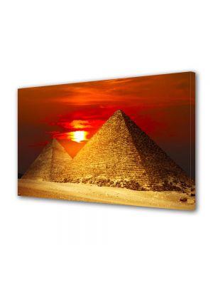 Tablou VarioView MoonLight Fosforescent Luminos in Urban Orase Piramide la apus