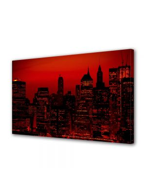 Tablou Canvas Cer rosu in New York
