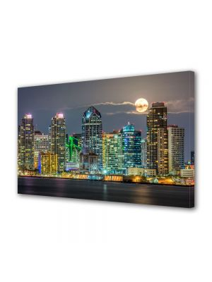Tablou Canvas Luminos in intuneric VarioView LED Urban Orase San Diego
