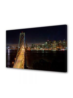 Tablou VarioView MoonLight Fosforescent Luminos in Urban Orase Podul din San Francisco noaptea