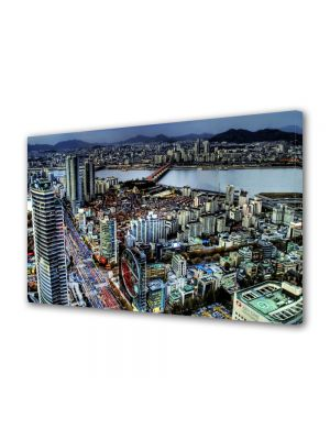 Tablou VarioView MoonLight Fosforescent Luminos in Urban Orase Seoul Coreea de Sud