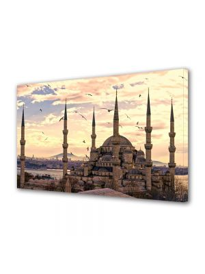 Tablou VarioView MoonLight Fosforescent Luminos in Urban Orase Moscheea Sultan Ahmed Istanbul