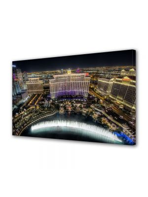Tablou VarioView MoonLight Fosforescent Luminos in Urban Orase Fantani la Bellagio Las Vegas