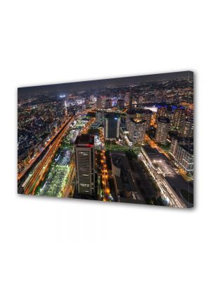 Tablou Canvas Luminos in intuneric VarioView LED Urban Orase Tokyo