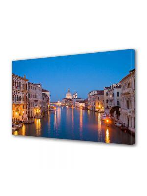 Tablou VarioView MoonLight Fosforescent Luminos in Urban Orase Lumini pe canal in Venetia