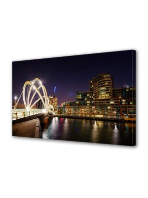Tablou Canvas Luminos in intuneric VarioView LED Urban Orase Melbourne