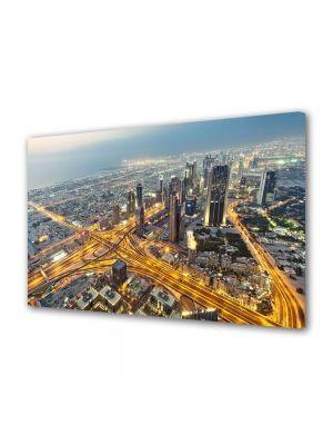 Tablou VarioView MoonLight Fosforescent Luminos in Urban Orase Vedere de sus in Dubai