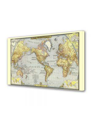 Tablou Canvas Harta lumii Veche
