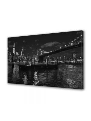 Tablou VarioView MoonLight Fosforescent Luminos in Urban Orase Podul Brooklyn Alb Negru