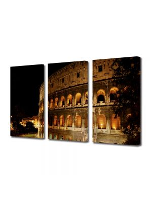 Set Tablouri Multicanvas 3 Piese Amfiteatru in Roma
