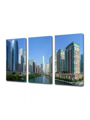 Set Tablouri Multicanvas 3 Piese Raul din Chicago
