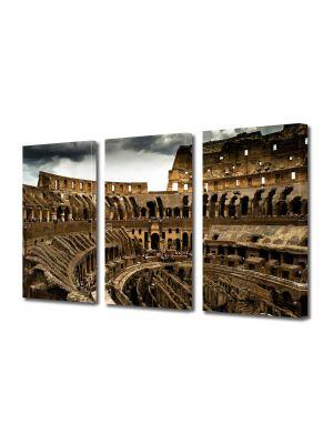 Set Tablouri Multicanvas 3 Piese Colosseum Roma Italia