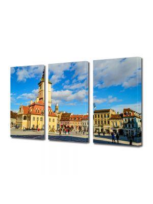 Set Tablouri Multicanvas 3 Piese Centrul Clujului