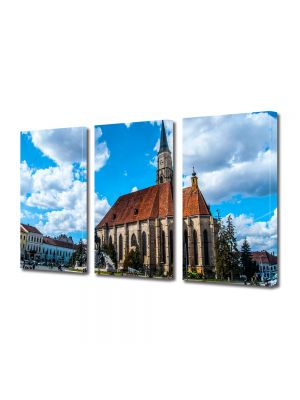 Set Tablouri Multicanvas 3 Piese Catedrala in Cluj