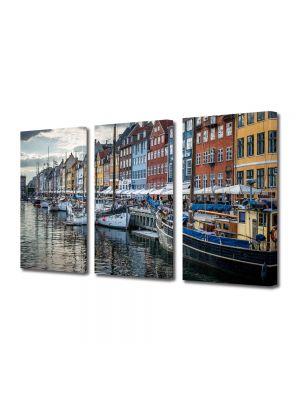 Set Tablouri Multicanvas 3 Piese Copenhaga Danemarca