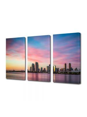 Set Tablouri Multicanvas 3 Piese Cer colorat in Coronado