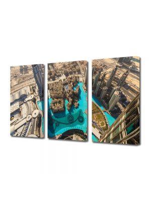 Set Tablouri Multicanvas 3 Piese Dubai la inaltime