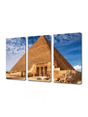 Set Tablouri Multicanvas 3 Piese Piramida Egipteana