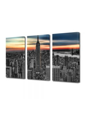 Set Tablouri Multicanvas 3 Piese Empire State Building New York