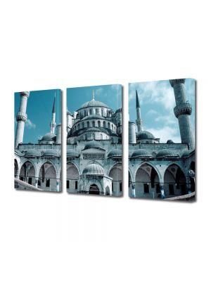 Set Tablouri Multicanvas 3 Piese Moscheea Hagia Sophia Istanbul Turcia