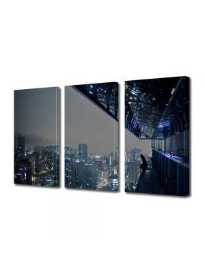 Set Tablouri Multicanvas 3 Piese Hong Kong