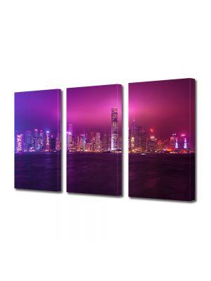 Set Tablouri Multicanvas 3 Piese Hong Kong China