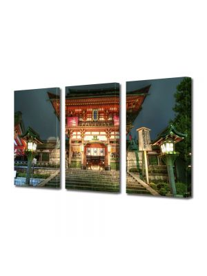 Set Tablouri Multicanvas 3 Piese Templu Japonez