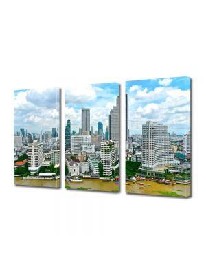 Set Tablouri Multicanvas 3 Piese Bangkok