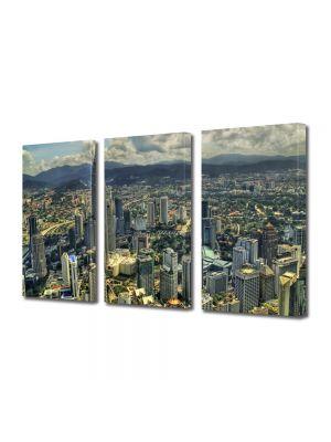 Set Tablouri Multicanvas 3 Piese Kuala Lumpur de sus