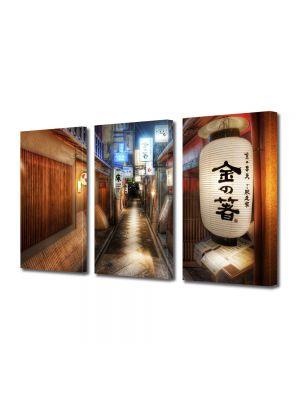 Set Tablouri Multicanvas 3 Piese Kyoto Japonia