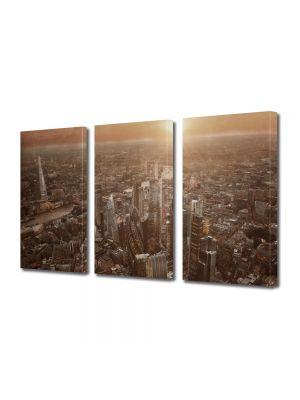 Set Tablouri Multicanvas 3 Piese Londra Regatul Unit Sepia