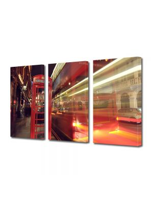 Set Tablouri Multicanvas 3 Piese Cabina telefonica in Londra
