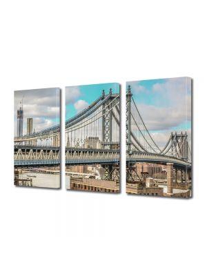 Set Tablouri Multicanvas 3 Piese Podul Manhattan
