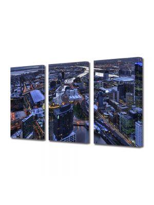 Set Tablouri Multicanvas 3 Piese Melbourne Australia