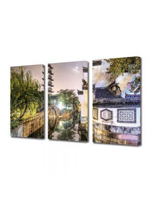 Set Tablouri Multicanvas 3 Piese Shanghai China